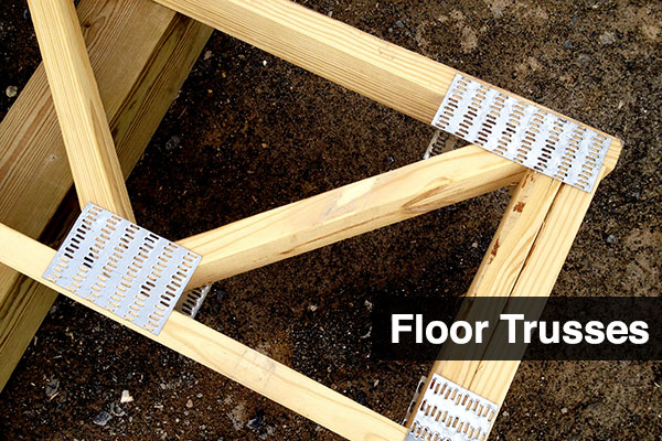 Floor trusses central penn components for Open web floor joists